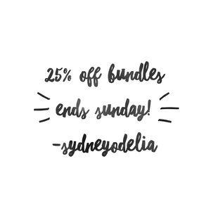 Bundles 25% Off! Ends 1/21! ✨